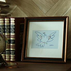 ミニアートポスター Pablo Picasso Dove of Peace(パブロ ピカソ ダブオブピース) インテリア 絵 絵画 アート アートポスター Pablo Picasso Dove of Peace ピカソ パブロピカソ 鳩