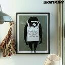 アートポスター Banksy (バンクシー) Laugh Now インテリア 絵 絵画 アート アートポスター アートパネル アートフレ…