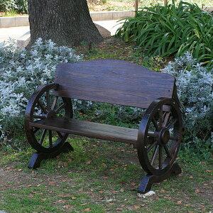 Wheel Bench(車輪ベンチ) 1100 エクステリア ガーデンチェアー ガーデンベンチ 椅子 車輪 ベンチ 木製