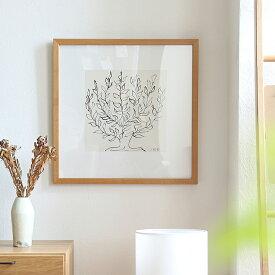 アートポスター Henri Matisse「低木」 ナチュラルフレーム インテリア 絵 絵画 アート アートポスター アートパネル アートフレーム リトルアート 玄関 リビング ダイニング 額入り 壁掛け おしゃれ ウォール モノクロ Henri