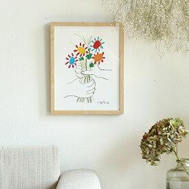 Pablo Picasso Petite Fleurs(パブロ ピカソ プティトゥ・フルール) インテリア 絵 絵画 アート アートポスター アートパネル アートフレーム リトルアート 玄関 額入り 壁掛け おしゃれ ウォール モノクロ Pablo Picasso Petite Fleurs ピカソ パブロピカソ 小さな花