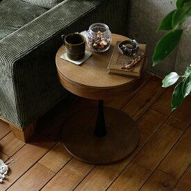 【楽天お買い物マラソン クーポン で500円OFF】 .収納付き円形サイドテーブル PPT3(ピーピーティー3) サイドテーブル テーブル 円形 丸型 丸 木製 ベッドサイドテーブル ナイトテーブル サイドワゴン table ソファ ベッド サイド おしゃれ 収納