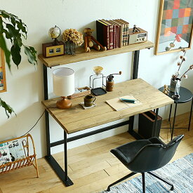 ワークデスク WITH(ウィズ)120cmタイプ デスク 机 パソコンデスク おしゃれ ワークデスク オフィス ナチュラル 北欧 省スペース ビンテージ インダストリアル カフェ アイアン 木製 リビングルーム ワンルーム スリム