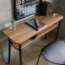カウンターデスク Keit(ケイト) テーブル デスク 机 おしゃれ カウンターテーブル ビンテージ インダストリアル カフェ ハイテーブル ブラック 黒 木製 アイアン リビングルーム ワンルーム