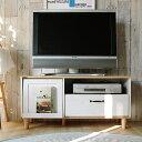 ローボード100 Poshe(ポッシュ) テレビ台 テレビボード テレビラック 収納 TV台 TVボード TVラック カントリー フレンチ フレンチカントリー ホワイト 木製