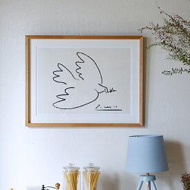 【クーポン で1000円OFF 13日20時〜17日12時】 アートポスター Pablo Picasso Dove of Peace(パブロ ピカソ ダブオブピース) インテリア 絵 絵画 アート アートポスター アートパネル アートフレーム リトルアート 玄関 額入り 壁掛け おしゃれ ウォール