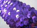 No.2007_手芸用スパンコールブレード_紫色(パープル)幅4.5cm×2m巻き