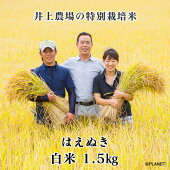 庄内米山形県鶴岡市井上農場の特別栽培米【はえぬき】白米1.5kg