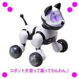 [★割引クーポン使えます♪]★ロボット犬 歌って踊ってわんわん RI-W01送料無料!★15種の合言葉を理解し、声や仕草で反応してくれ、 歌を歌ったり、ダンスをしたり♪プレゼントにも最適♪