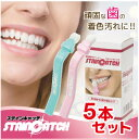 【デンタルホワイトプロ ステインキャッチ:5本セット】歯のホワイトニング 自宅で簡単ケア 歯を白く ステイン除去 ギフト