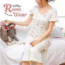【ルームウェア:上下セット】パジャマ 半袖 7分 上下セット 花柄 キュート ルームウェア レディース 大人かわいい