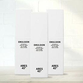 ARES45 乳液 3本セット メンズ オールインワンゲル スキンケア 保湿 化粧水 美容液 乳液 保湿 クリーム 日本製 乾燥肌 男性用 老け顔対策 エイジングケア アレス45 100ml