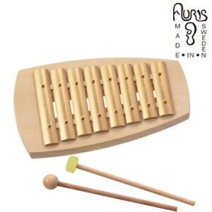 アウリス シェルズグロッケン ダイヤトニック8音 AUKAD008[楽器 おもちゃ こども 北欧 スウェーデン 木製 グロッケン プレゼント・ギフトにおすすめ 男の子 女の子 子供]