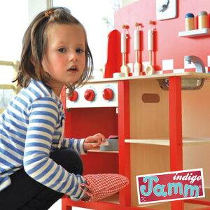 INDIGO JAMM キッチンダイナー IN-KIJ10051[おもちゃ 玩具 おままごと ままごと ままごとセット ごっこ遊び キッチンセット コンロ ミニキッチン 知育おもちゃ 知育玩具 知育 子供用 子供 女の子 女