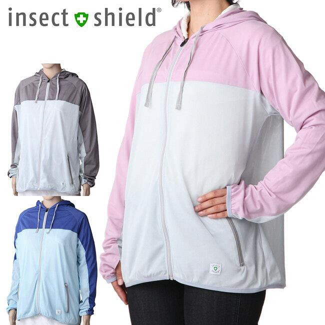 insect shield インセクトシールド プレミアム虫よけUVメッシュパーカー[キャンプやガーデニングなどのアウトドアにおすすめ 蚊の対策とUV対策のパーカー 紫外線対策のUVパーカー メッシュタイプ]