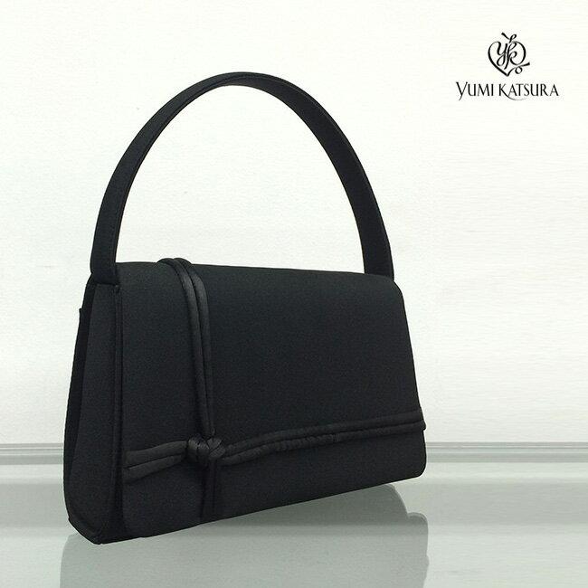 YUMI KATSURA 桂由美 ブラックフォーマルバッグ 2105[結婚式などの慶事におすすめのレディースのフォーマルのバッグ 日本製の人気ブランドのおしゃれなハンドバッグ・カバン]送料無料【ポイント10倍】