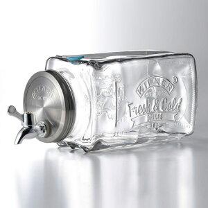 KILNER キルナー フリッジディスペンサー 3L 0025001[洋酒 サーバー ドリンクサーバー ガラス 蛇口 おしゃれ ウォーターサーバー デトックスウォーター 3リットル 3.0L] 即納