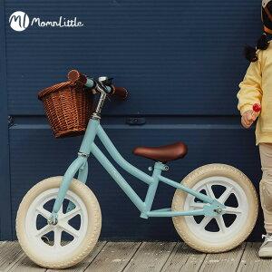 MomnLittle バランスバイク[キックバイク 子供 女の子 3歳 4歳 5歳 6歳 7歳 キッズバイク 子ども キッズ バイク おしゃれ かわいい 自転車 バランス トレーニング 練習 公園 広場 遊ぶ 遊び 3歳児 3