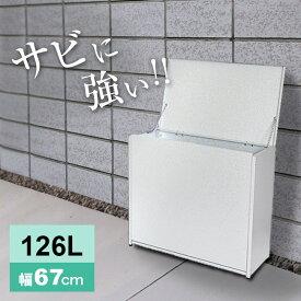 屋外ゴミ収納庫 中 幅67 A031[屋外 家庭用 大きいサイズ ゴミ箱 外置き 大容量 おしゃれ ごみ箱]【即納】