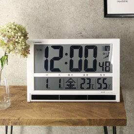 Landex ランデックス バカデカ電波時計 YW9088WH[デジタル電波時計 タイムゲート 置き時計 掛け時計 見やすい時計 大文字 大きい 文字 大きめ 壁掛け ]【即納】