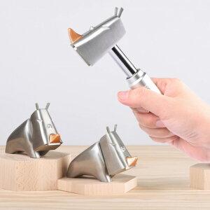 【ギフト対応無料】ライノハンマー Rhino Hammer シルバー HT-RN2001_S[インテリアにもなる飾れるDIY サイ(動物)の形をしてユニークでおしゃれな工具(トンカチ 金槌) 日曜大工の道具 新築祝いやギ
