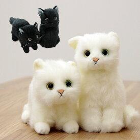 日本製 リアル 猫のぬいぐるみ 子猫 26cm[リアル ぬいぐるみ ネコ 猫 ねこ 癒し かわいい いやし猫]【即納】