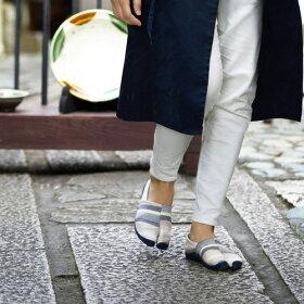 たびりら[22〜28cm男女兼用締め付けない足袋型シューズ柔らかい底履き心地快適おしゃれ旅行日本製カジュアルな足袋シューズ靴]