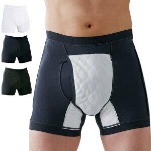 男性用失禁パンツ サイドシークレット 1枚[失禁パンツ 男性用 尿漏れパンツ 男性 メンズ 下着 インナー ボクサー パンツ ボクサーパンツ 50cc]