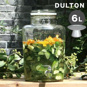 DULTON ダルトン ビバレッジサーバー エリンS 6L & ティントレイスタンド[ドリンク サーバー ドリンクサーバー ガラス 蛇口 おしゃれ ウォーターサーバー デトックスウォーター スタンド付き