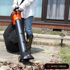 ヤードフォース ブロワー&バキューム YARD FORCE[電動 ブロワーバキューム 落ち葉 掃除機 屋外 庭 枯れ葉 掃除 ブロワー バキューム クリーナー ブロワーバキューム 家庭用 自宅 大掃除 玄関