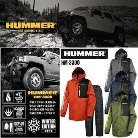 ハマー 防水×防寒レインウェアー上下セット HUMMER HM-3300 男女兼用サイズ ハマーウェアー 防水 保温性 耐久性