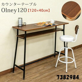 カウンターテーブル 収納棚付き机 パソコンデスク 120×40センチ モダンデザイン テーブル サカベ 7382984
