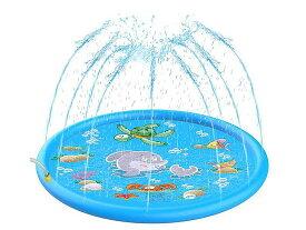 噴水マット噴水池 水遊び 噴水 おもちゃ 子供用 噴水プール ウォーター アウトドア 夏の日 芝生遊び 庭 家庭用 親子芝生遊び170cm