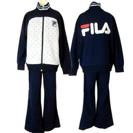 フィラ【FILA】☆ジュニア/女の子用/子供☆スポーツウェア/トレーニングスーツ/ジャージ上下組