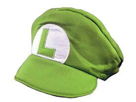 スーパーマリオ/ルイージ★ルイージなりきりキャップ ルイージなりきり 着ぐるみキャップ 帽子 かぶりもの ユニセクス