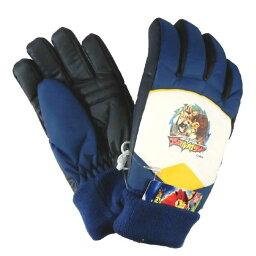 小小孩/★100獸類大戰役動物凱撒雪手套(5手指)/滑雪手套/袖口編織物◇萬代◇