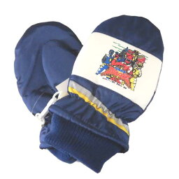 小孩/小孩★爆竜戦隊abarenja/雪手套(連指手套)/滑雪手套/袖口編織物◇日本製造◇