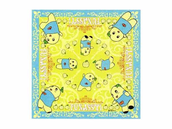 ふなっしー/フナッシー☆ハンカチ(フチ枠/サックス)/通園・通学時の必須アイテム/キャラクターハンカチ/プリントハンカチ