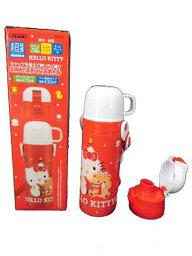 喝Hello Kitty/三麗鷗☆2WAY不銹鋼瓶/直接型&杯子類型/蓋子替換2WAY/輕量小型的/保冷&保溫/470ml&430ml