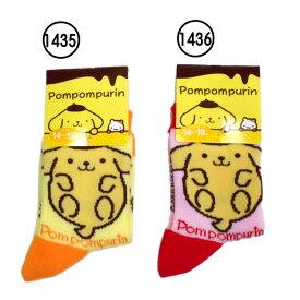 キッズ/ジュニア/女の子☆ポムポムプリン/サンリオソックス/キャラクターソックス/クルーソックス/靴下