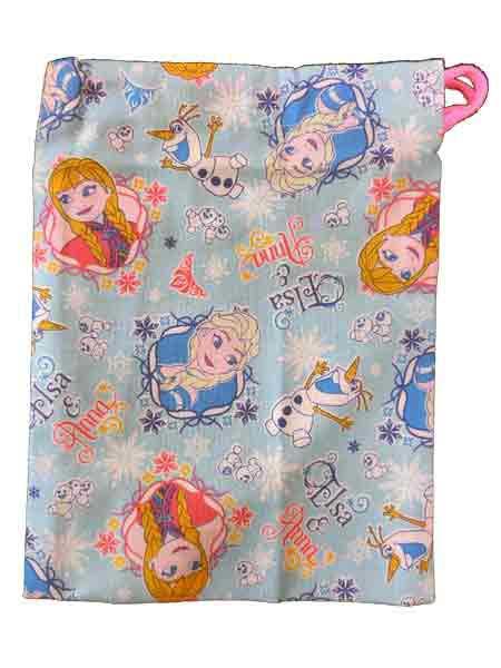 アナと雪の女王/ディズニー☆歯ブラシホルダー付きコップ袋/巾着袋/きんちゃく/巾着/給食袋◇日本製◇