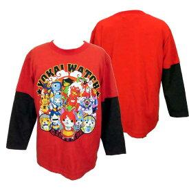 【妖怪ウォッチ】★長袖Tシャツ レイヤード風Tシャツ 子供長袖Tシャツ NEXTPETS!◇バンダイ◇