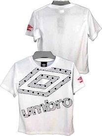 ジュニア/男の子/子供★umbro(アンブロ)半袖Tシャツ/フロントプリント/クルーネック/Tシャツ/ドライTシャツ