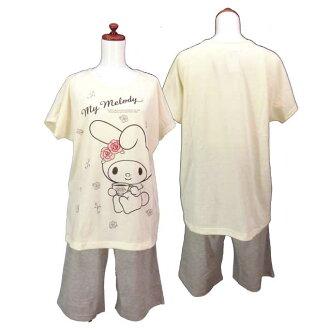 Lady's / woman ☆ T suit / short sleeves T-shirt + half underwear / house coat / nightie / home wear♪