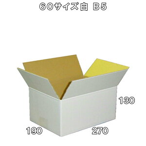 【法人様向け】60サイズ激安白ダンボール箱B5 120枚※西濃運輸での配送となります※※沖縄と離島は対象外となります※