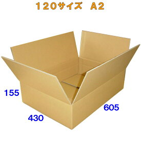 ダンボール(ダンボール箱)120サイズ A2(A3+A3) 10枚5ミリ厚【法人様向け】※この商品は西濃運輸配送です※