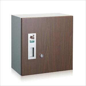 コーワソニア 宅配ボックス 3333R (右開き) ウォールナット『一戸建て用 屋外』