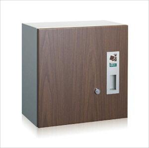 コーワソニア 宅配ボックス 3333L (左開き) ウォールナット『一戸建て用 屋外』