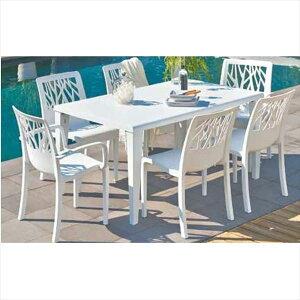 タカショー ベジタル/アルファ テーブルチェア7点セット 『ガーデンチェア ガーデンテーブル セット』