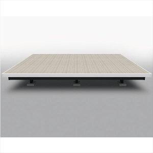 三協アルミ 屋外フローリング ラステラ 1.5間×4尺 床張り出し納まり ツートンフレームタイプ(下幕板黒) 束柱・固定/ロングタイプ NRD2-9040L 『ウッドデッキ 人工木 樹脂デッキ